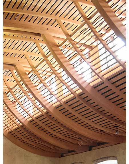 Best Curved Wood Slat Ceiling 400 x 300