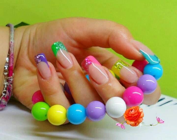 Uñas lindas | Uñas decoradas | Pinterest | Puntas de colores, Uñas ...