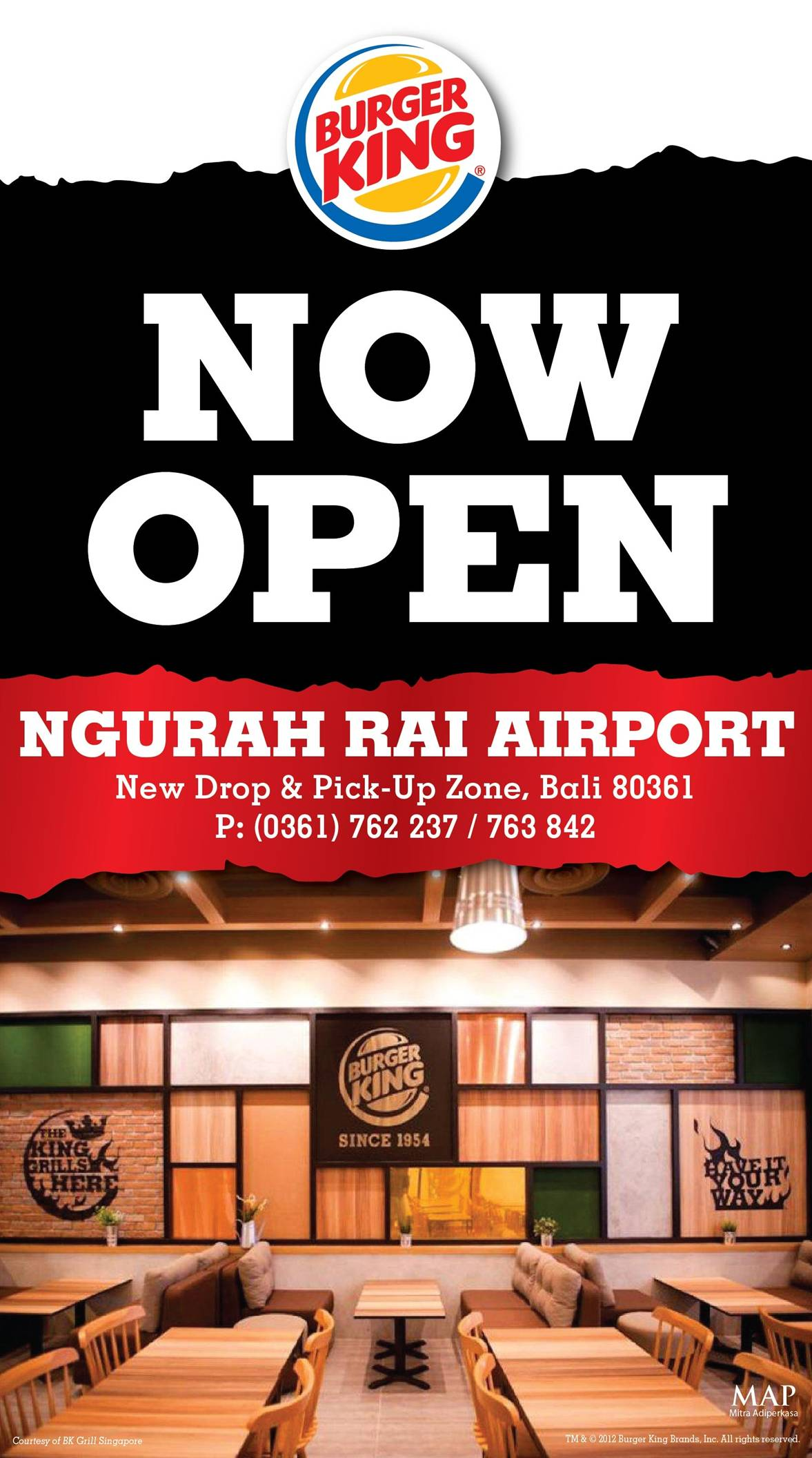 BURGER KING NOW OPEN! at Ngurah Rai Airport, Denpasar!