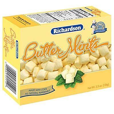 Richardson Butter Mints 5 5 Oz Box 3 Case Butter Mints Mint Butter
