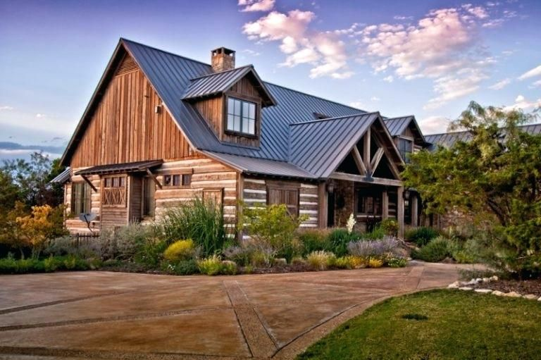 Hill Country Farmhouse Style Stone House Plans Rustic Exterior Ranch House Plans
