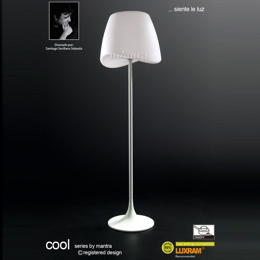 Mantra M1502 Cool White 2 Light Floor Lamp