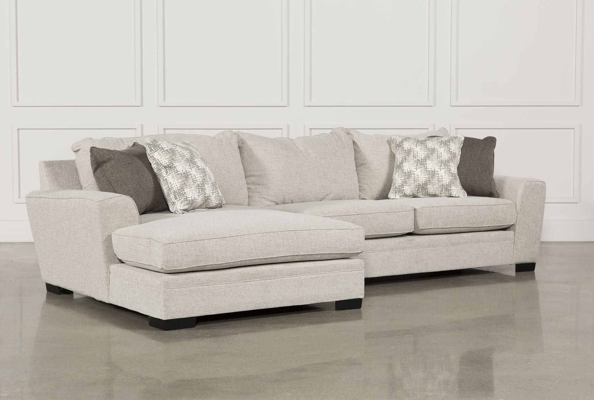 Delano 2 Piece Sectional W Laf Oversized Chaise Beige Sofas Living Spaces Sofa Sectional Sofa With Chaise Sectional Sofa
