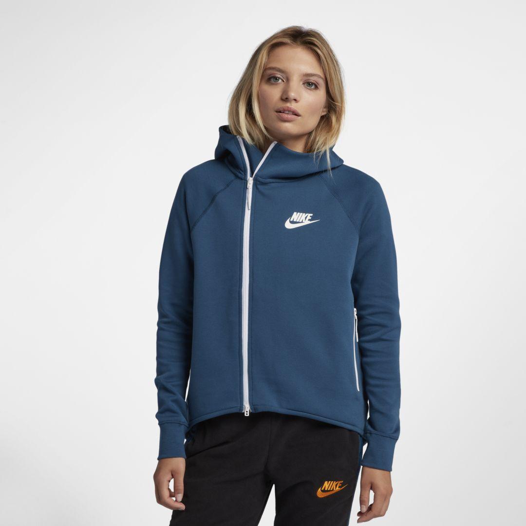 best service 0f2fb 0e408 Nike Sportswear Tech Fleece Women s Full-Zip Cape Size XL (Blue Force)