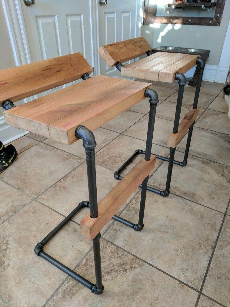 Pipe stools #BarWoodworkingPlans #vintageindustrialfurniture