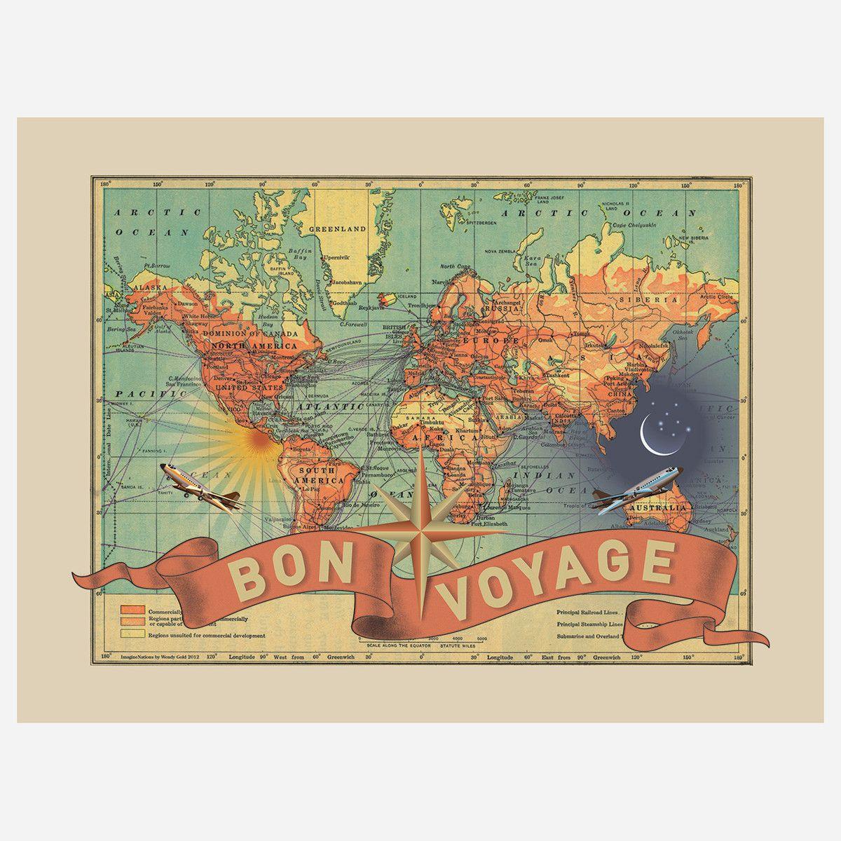 Bon Voyage Map by ImagineNations 여행