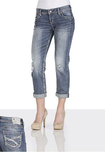 a9a024420341f Silver Jeans Co. ® Sam Boyfriend Denim Capri available at  Maurices ...