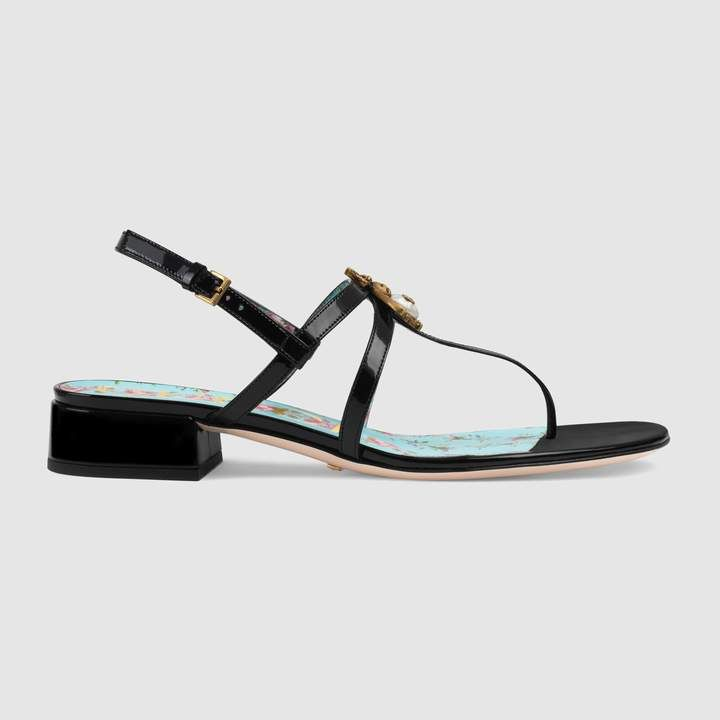 fa01f52e7e4 Patent leather sandal with bee in 2018