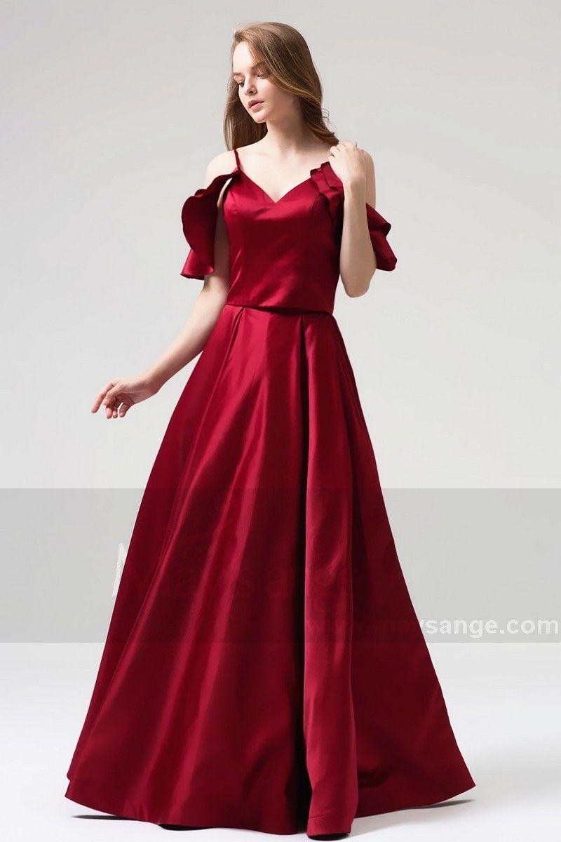 robe pour mariage | Robe de mariée bordeau,