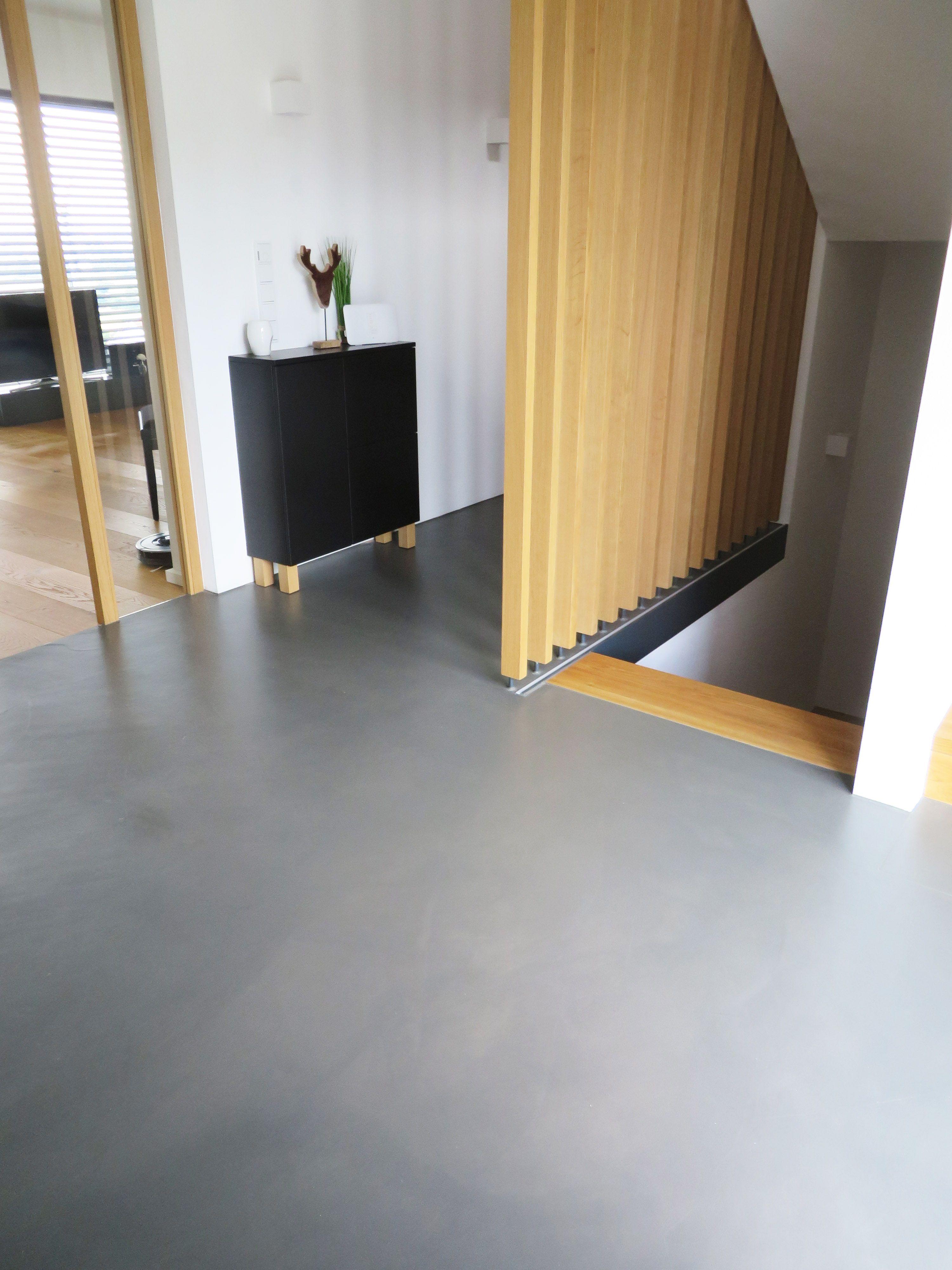 Floor Cement Zementboden Flur Betonfussboden Zuhause Treppenrenovierung