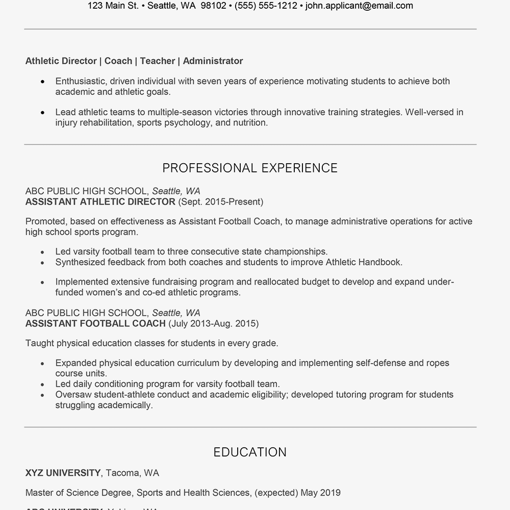 Correctional Officer Resume With No Experience Elegant Athletic Director Cover Letter And Resume E Resume Examples Job Resume Examples Medical Assistant Resume