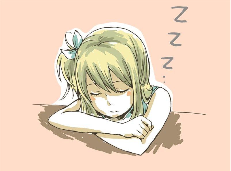 Lucy Heartfilia Sleeping