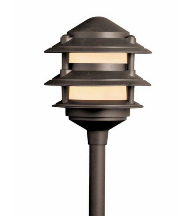 portfolio low voltage pagoda landscape 3 tier path light aluminum