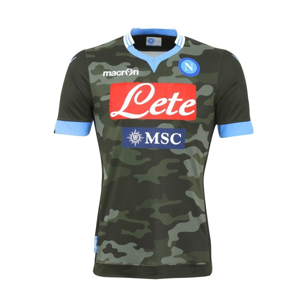 Macron Napoli Camo Fight Kit 2013 14 Wlkns Soccer Jersey World Soccer Shop Football Shirts