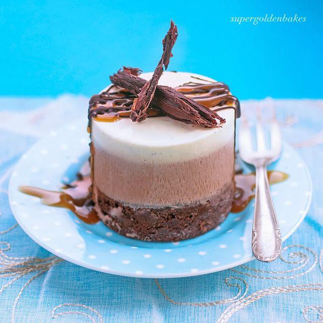 Triple chocolate mousse cake | Supergolden Bakes