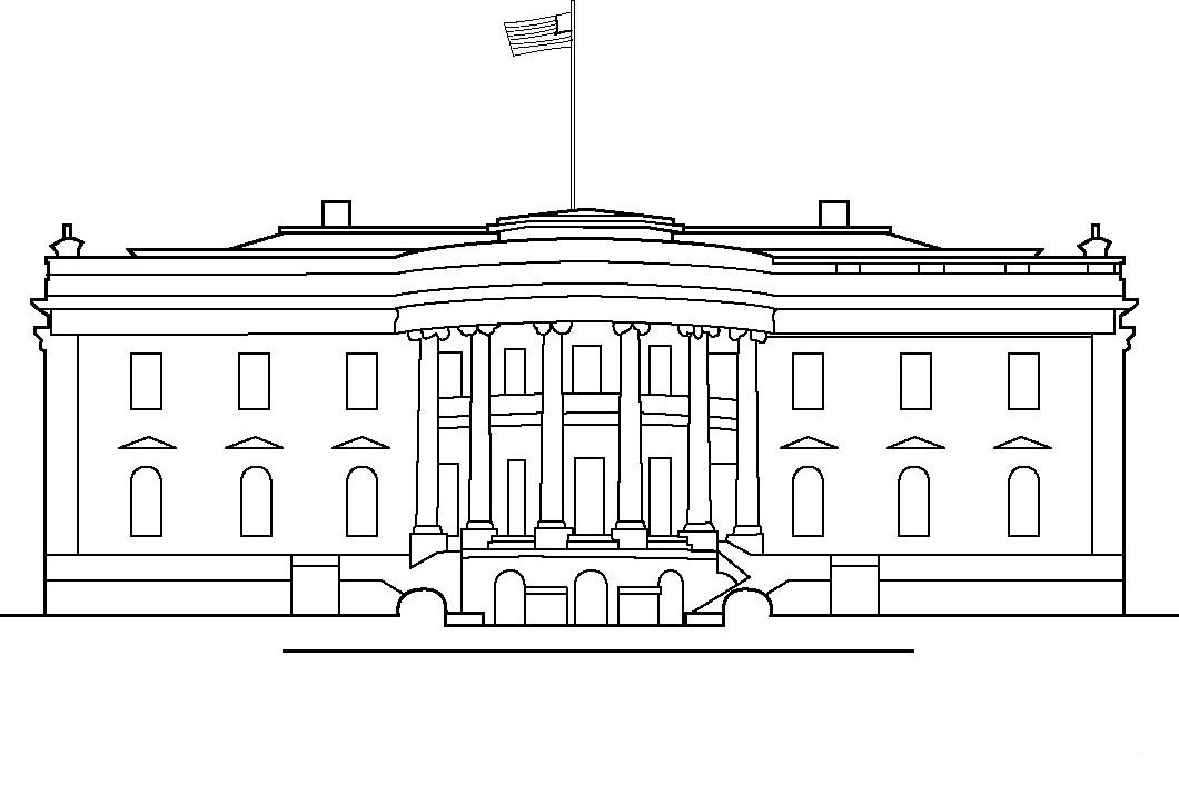 White House Coloring Pages For Kids House Colouring Pages White House Drawing House Colouring Pictures