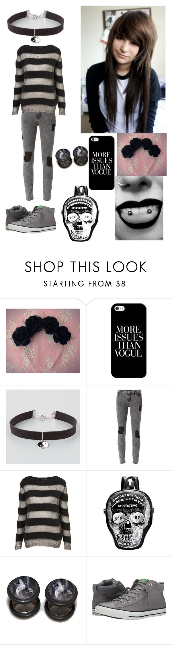 """Untitled #52"" by bringmetheveil ❤ liked on Polyvore featuring ...Lost, Casetify, Full Tilt, Each X Other, Topshop and Converse"