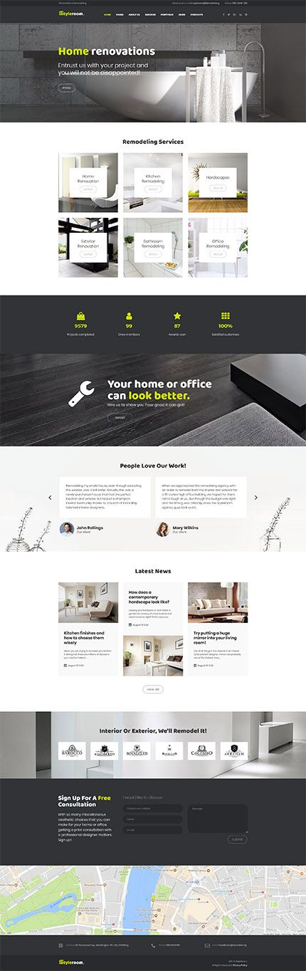 styleroom house renovation responsive wordpress template web
