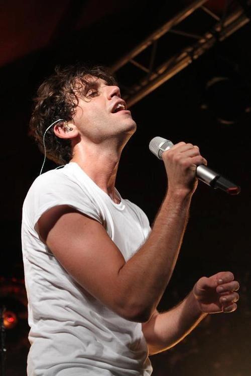Mika singing Arthur's Day at The Market Bar Dublin, Ireland 27 September 2012