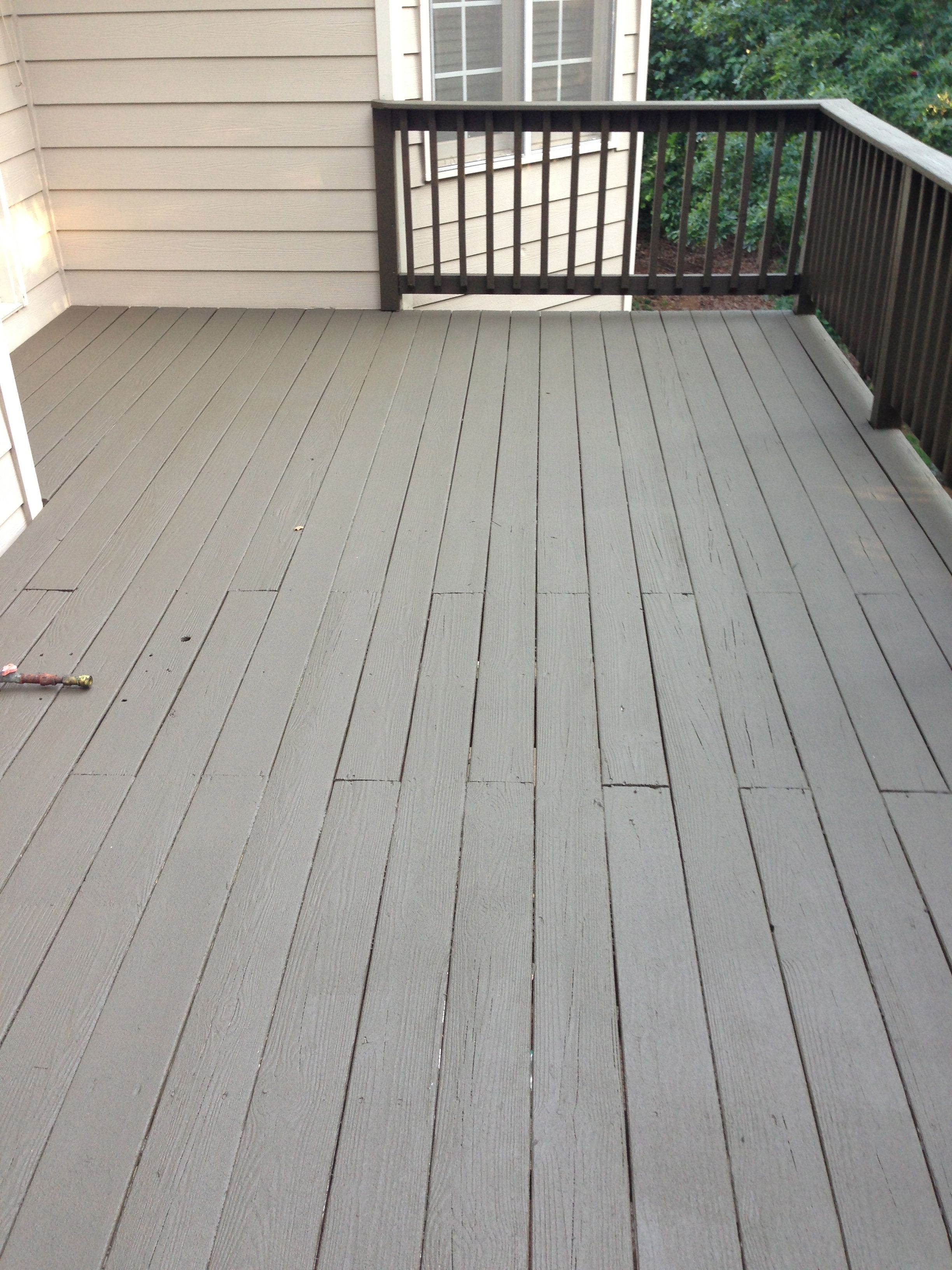 After photo sherwin williams deck revive fills cracks for Best deck paint for old wood