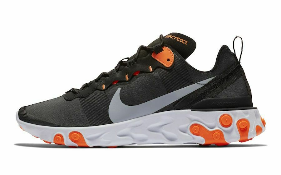 the latest 94892 16699 Nike React Element 55 Black Size 11 US Mens Athletic Running Shoes Sneakers   Nike  RunningShoes