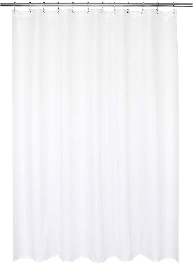 Amazon Com Barossa Design Waterproof Fabric Shower Curtain Or Liner Hotel Quality Machine Wa White Shower Curtain Fabric Shower Curtains Cool Shower Curtains