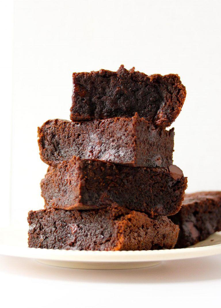 Fudgy Chewy Black Bean Brownies (Flourless, Gluten Free
