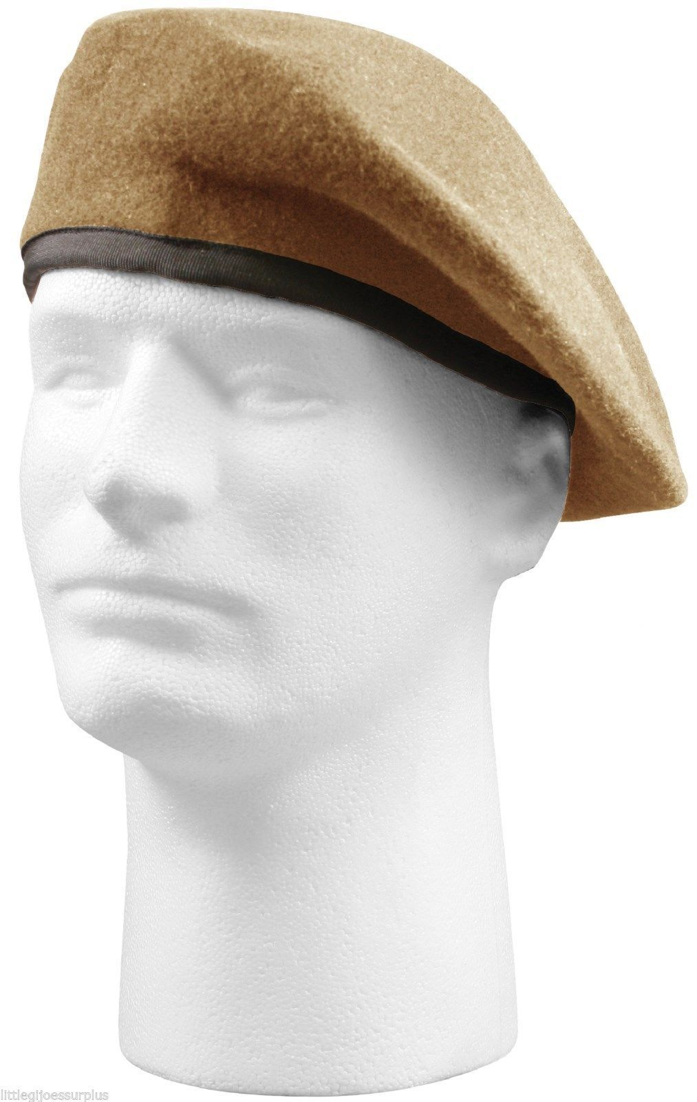 Inspection Ready Wool Tan Beret Without Flash - Military French Cap Beanie c3d18fb7b3b