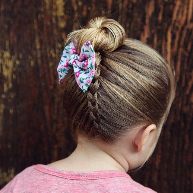 Sideways Upside Down Dutch Braid Into A Bun Have Your Child Lay - Bun hairstyle games