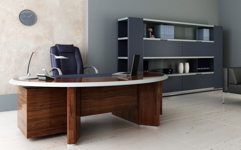 Furniture Incredible Modern Curved Office Desk Ideas Wonderful