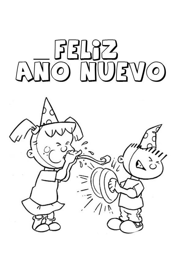 Dibujos De Año Nuevo Para Colorear Y Pintar Fiestas Christmas And