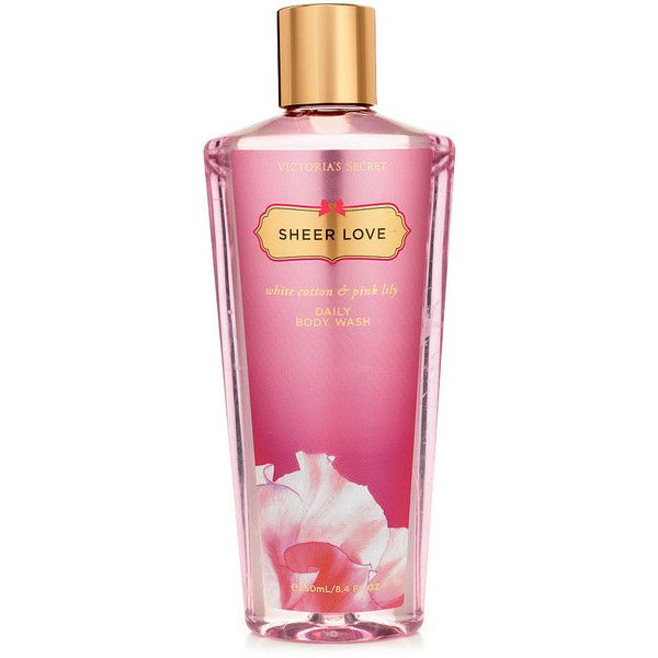 Victoria's Secret Sheer Love Daily Body Wash (£11) ❤ liked on Polyvore featuring print