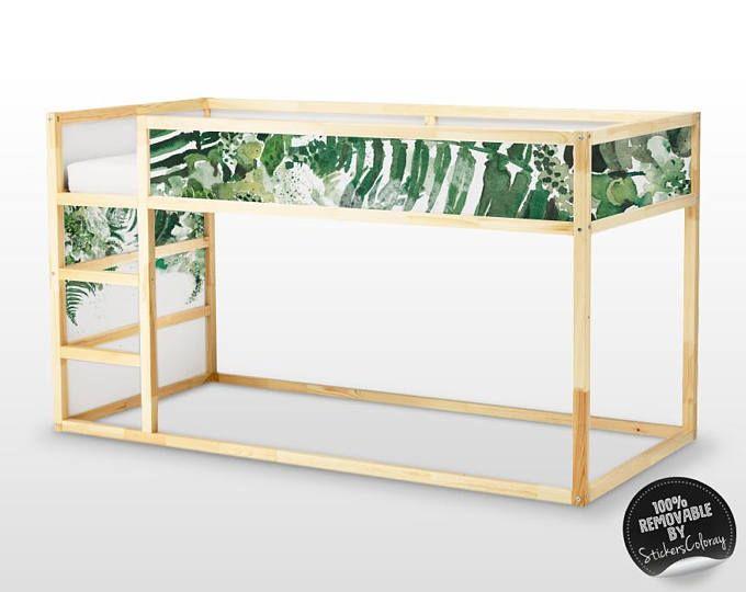 Letto Per Bambini Ikea : Kura letto ikea tropical leaves letto sticker set pack di 5