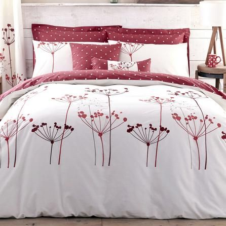 Red Cow Parsley Collection Duvet Cover | Dunelm