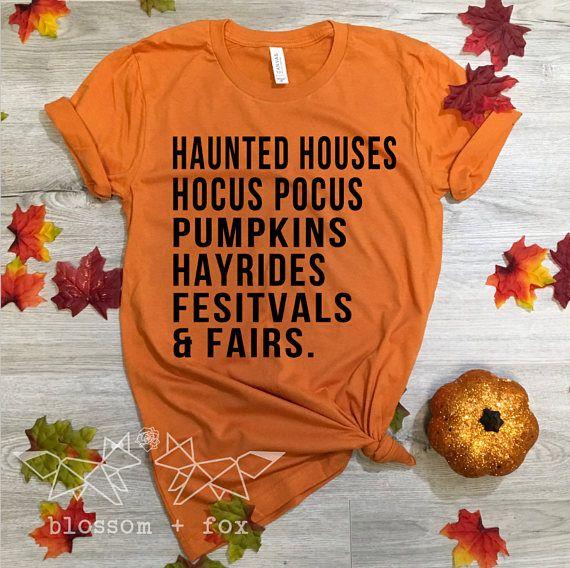 e07354da5 Haunted Houses Shirt, Halloween Shirt, Pumpkins Shirt, Fall Shirt for  Women, Fairs & Festivals, Hocu