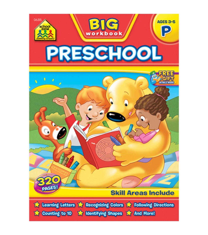 School Zone Big Workbook - Preschool   School, Preschool workbooks ...