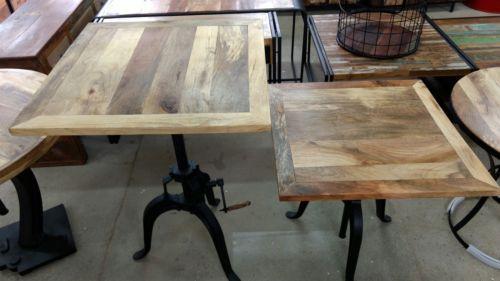 Tisch Industrial details zu tisch industrial design 76 cm esstisch crank table