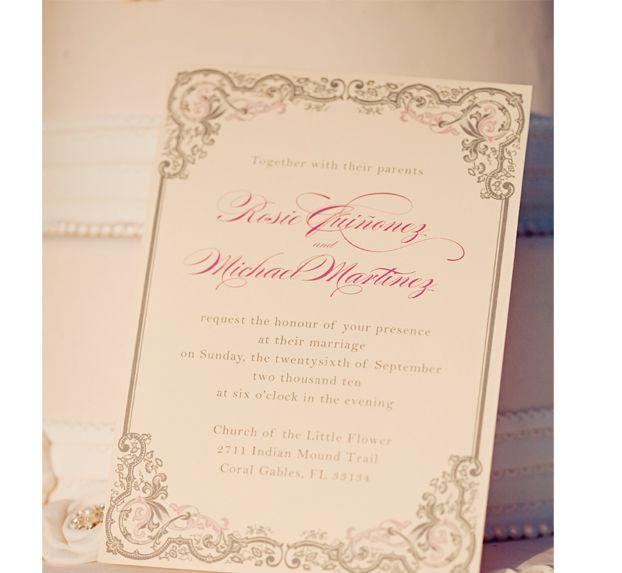 Vintage Handmade Wedding Invitations: Vintage Wedding Invitations