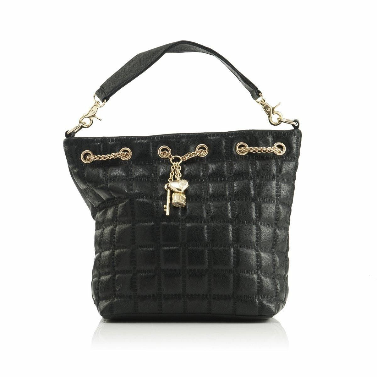 8c6400ef9f05 $89.99 Polo Villae Front-Quilted Handbag with Gold Charms from The Shopping  Channel