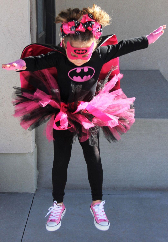 New Batgirl Super Hero Baby Toddler Girls Halloween Costume Cape