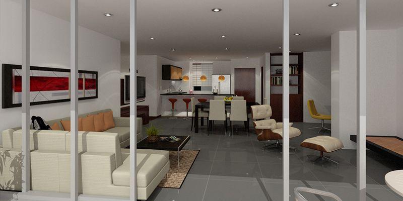 Cocina salon moderno decoracion via planreforma for Salon cocina moderno