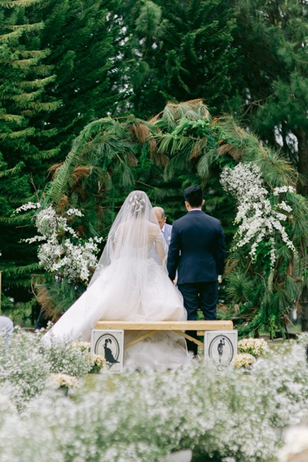 A Pink Rustic Wedding at the Foot of the Mountain Bride