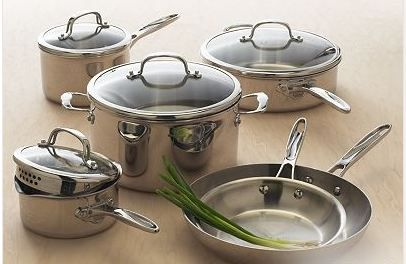 Kohl S Food Network 10 Pc Stainless Steel Cookware Set 179 Reg 449 Faithful Provisions Cookware Set Stainless Steel Cookware Set Food Network Recipes