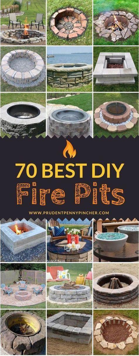 70 besten DIY Feuerstellen #diyoutdoorprojects