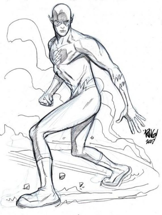 Printable coloring sheet of The Flash DC Superhero for kids - copy coloring pages games superhero