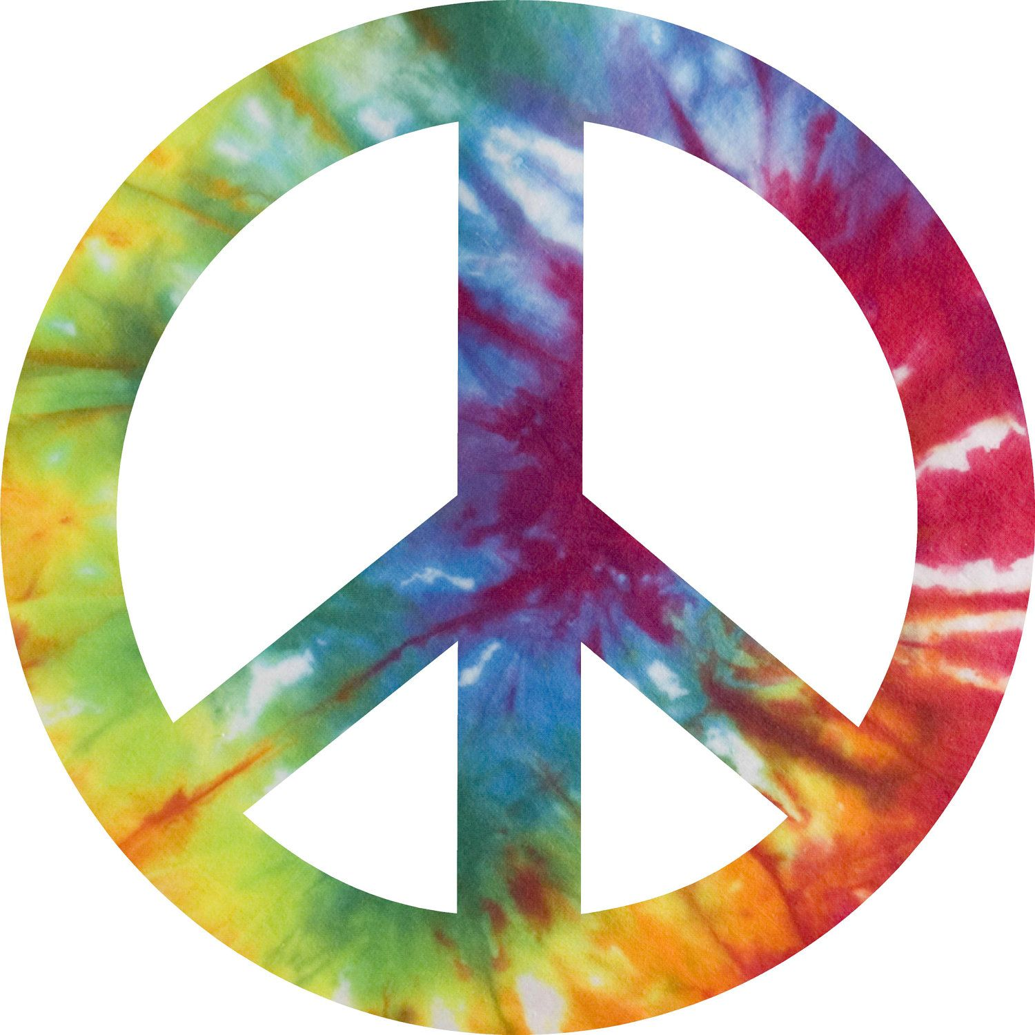peace signs | Tie Dye Peace Sign Decal Sticker 10 inches ...