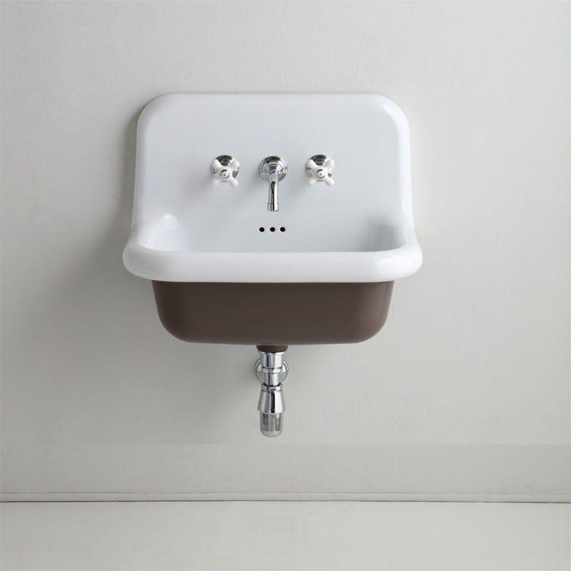 vasque rtro en cramique 60 cm true colors noir lavabo - Vasque Retro