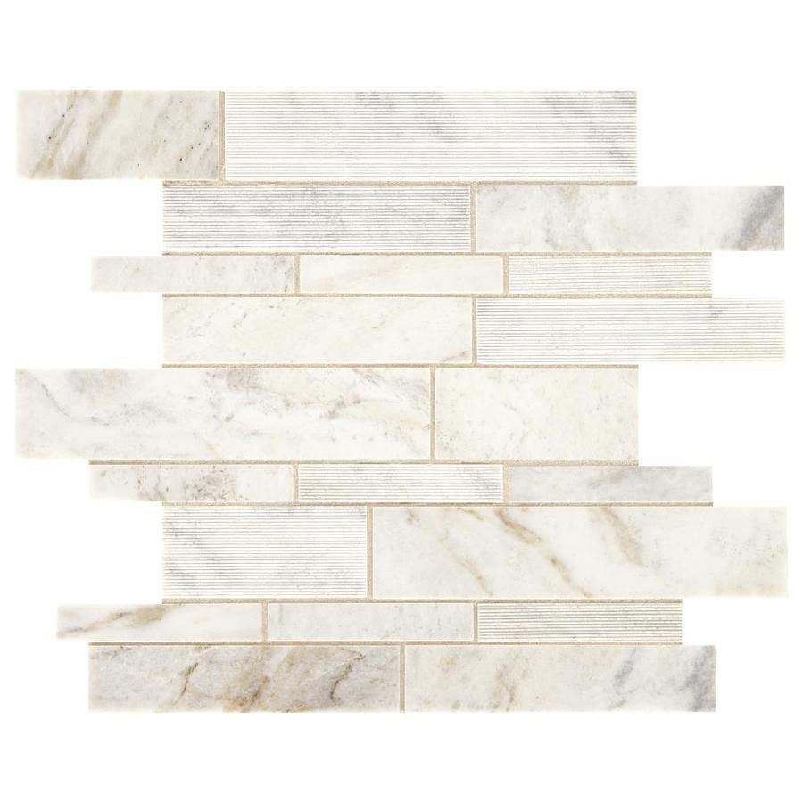 American Olean Genuine Stone White Ember 11 In X 14 In Multi Finish Natural Stone Marble Random Marble Look Floor And Wall Tile Lowes Com White Stone Tiles Olean Marble Wall Tiles
