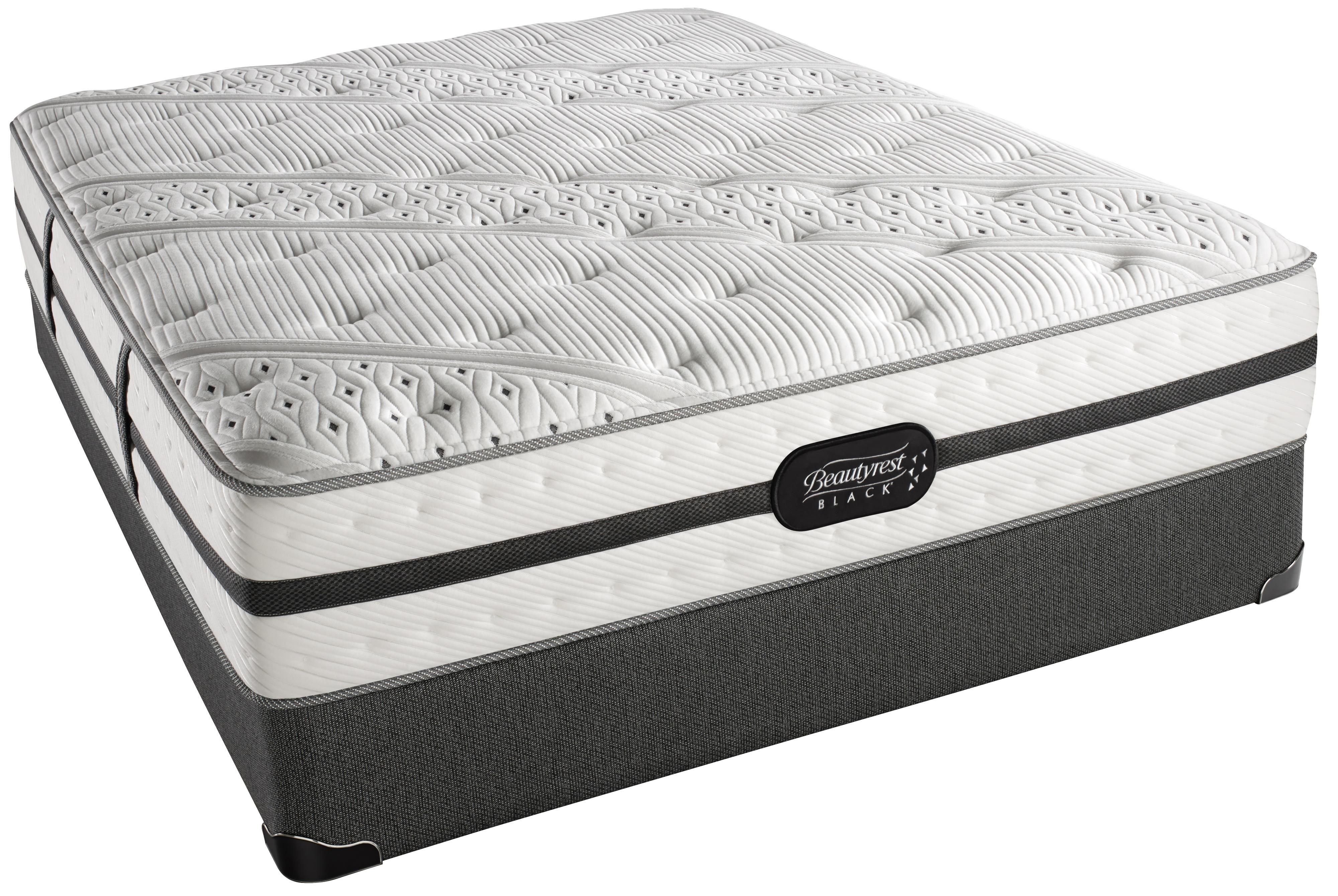 Beautyrest black ava queen plush mattress set by simmons