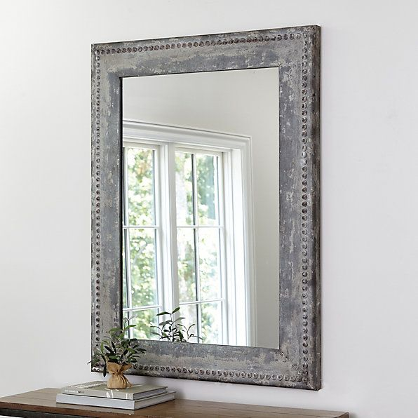 Our beaded zinc mirror is crafted of zinc accented with bead relief that catches the finish for rich depth beaded zinc mirror featureshandmadehangs either